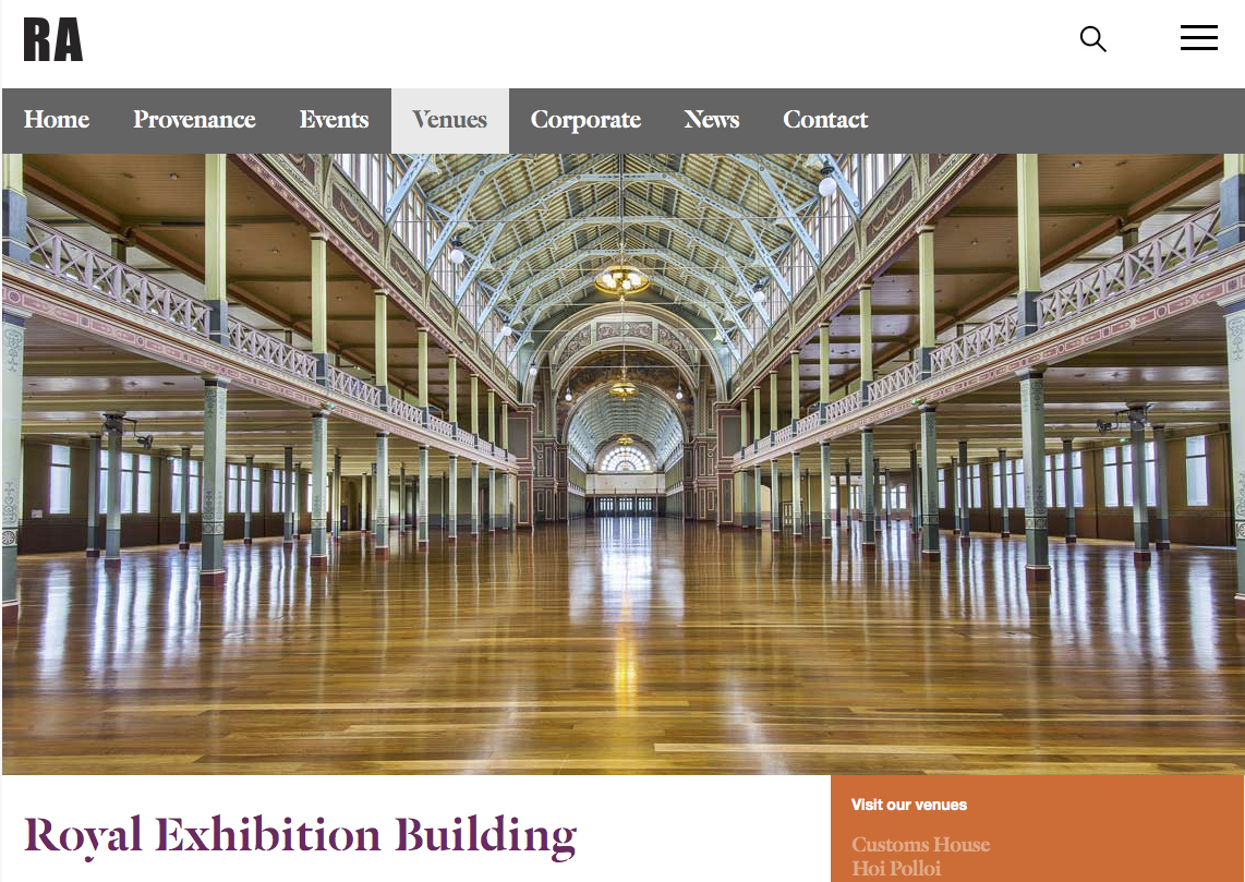 Restaurant Associates at Melbourne Museum and the Royal Exhibition Building