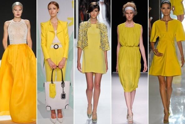 Yellow on the runway.