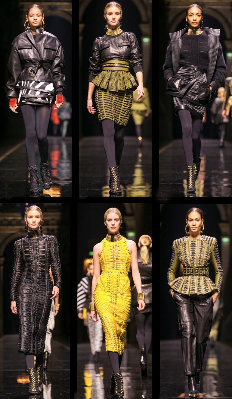 BALMAIN FROM THE SPRING 2014 NY FASHION WEEK FOR FALL 2014