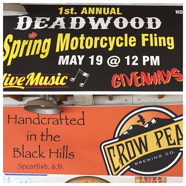 Might not feel like spring but we gonna fling up here at Deadwood Custom Cycles! Drinks, BBQ, music & good folks, come hang out!