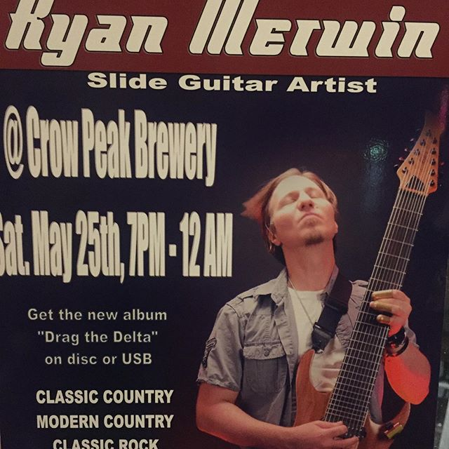 Tonight at 7! Ryan Merwin from Lead is here again, last summer he played & it was absolutely incredible! Beautiful guitar work rolling through a gamut of styles, don't miss this guy, a genuine talent from right here in the Hills.