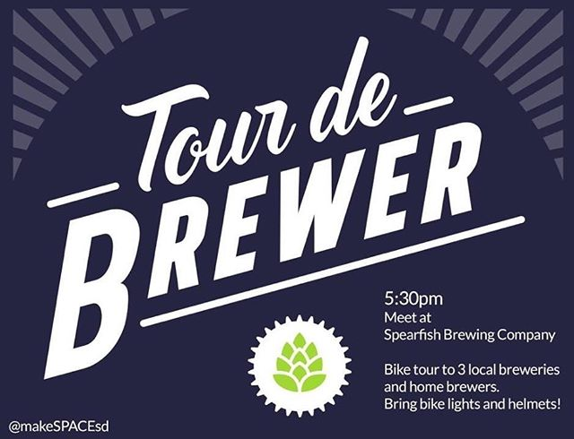 This Thursday (the 29th) join in on a bike tour of our brewery, along with 2 other local breweries AND homebrewers! @makespacesd is putting this super fun event on as a part of Spearfish Bike Week, so take the night off, grab your helmets, put some air in your tires, and let's get tasting 🍻