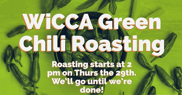 Tomorrow we're roasting chilis for our wickedly delicious chili ale! Join us at 2 pm to be a part of the WiCCA making process 🌶 🍻