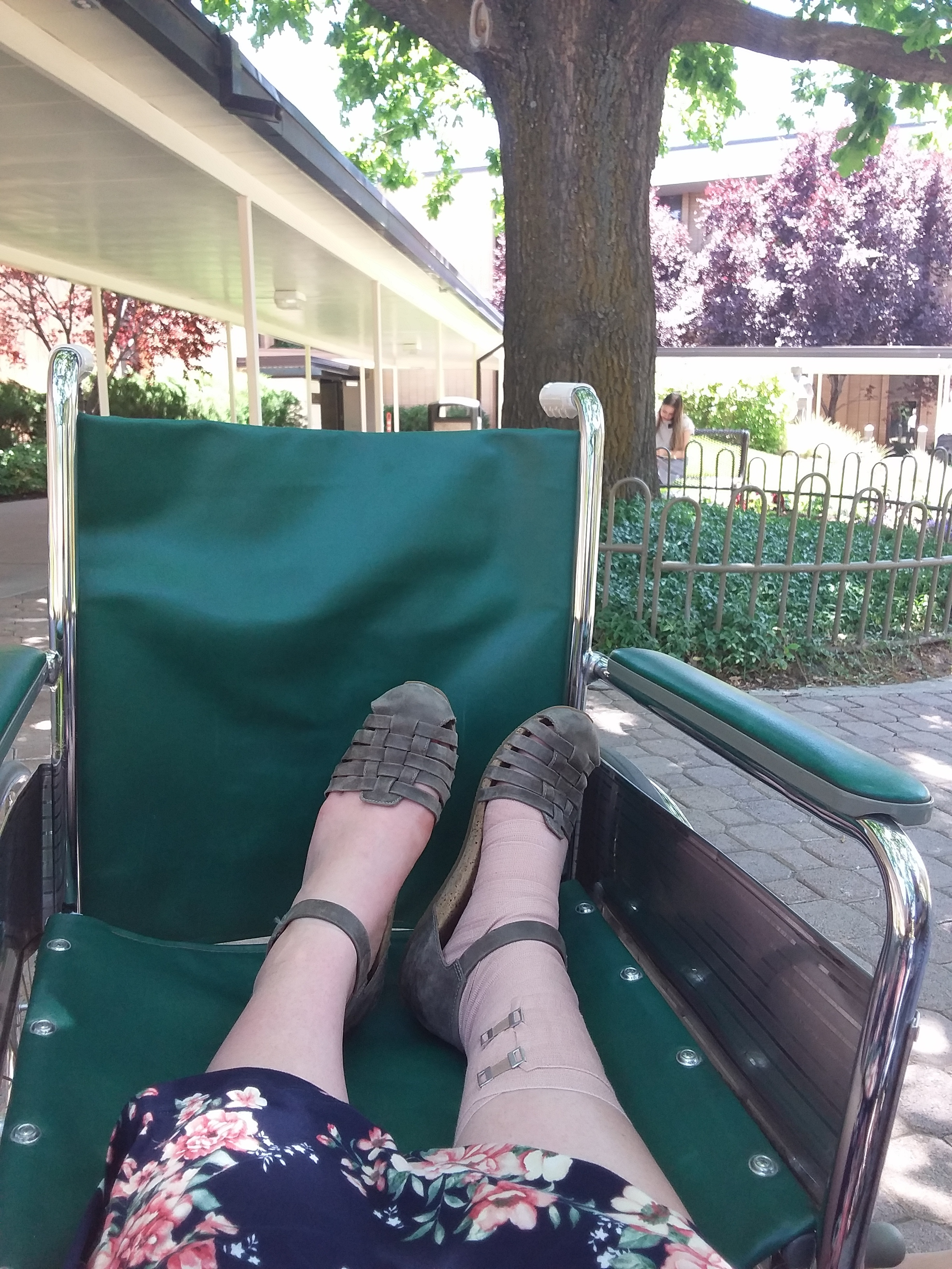 My cute wheelchair and my ankle