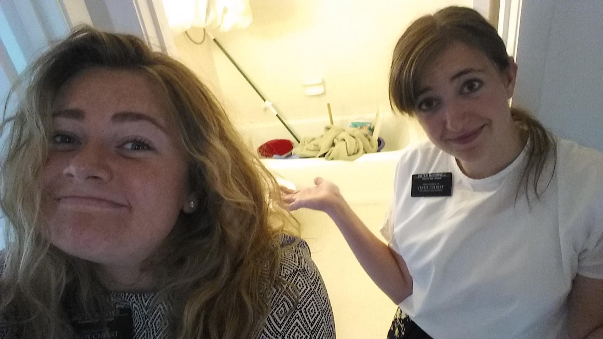 Our broken bathroom. What do ya do?