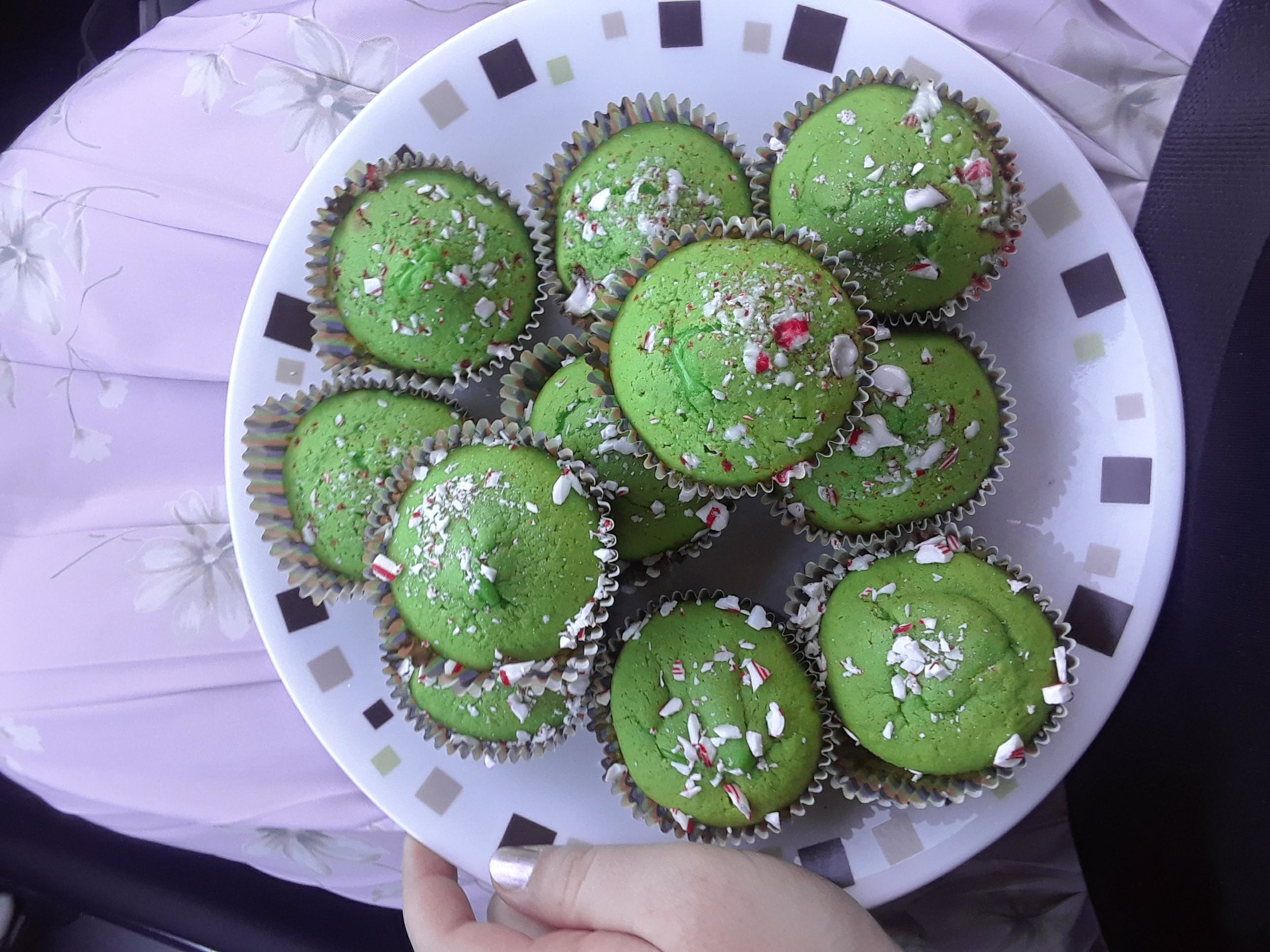 Also 'tis the season for diabetes (ft. The Grinch Cakes I made for our district meeting)