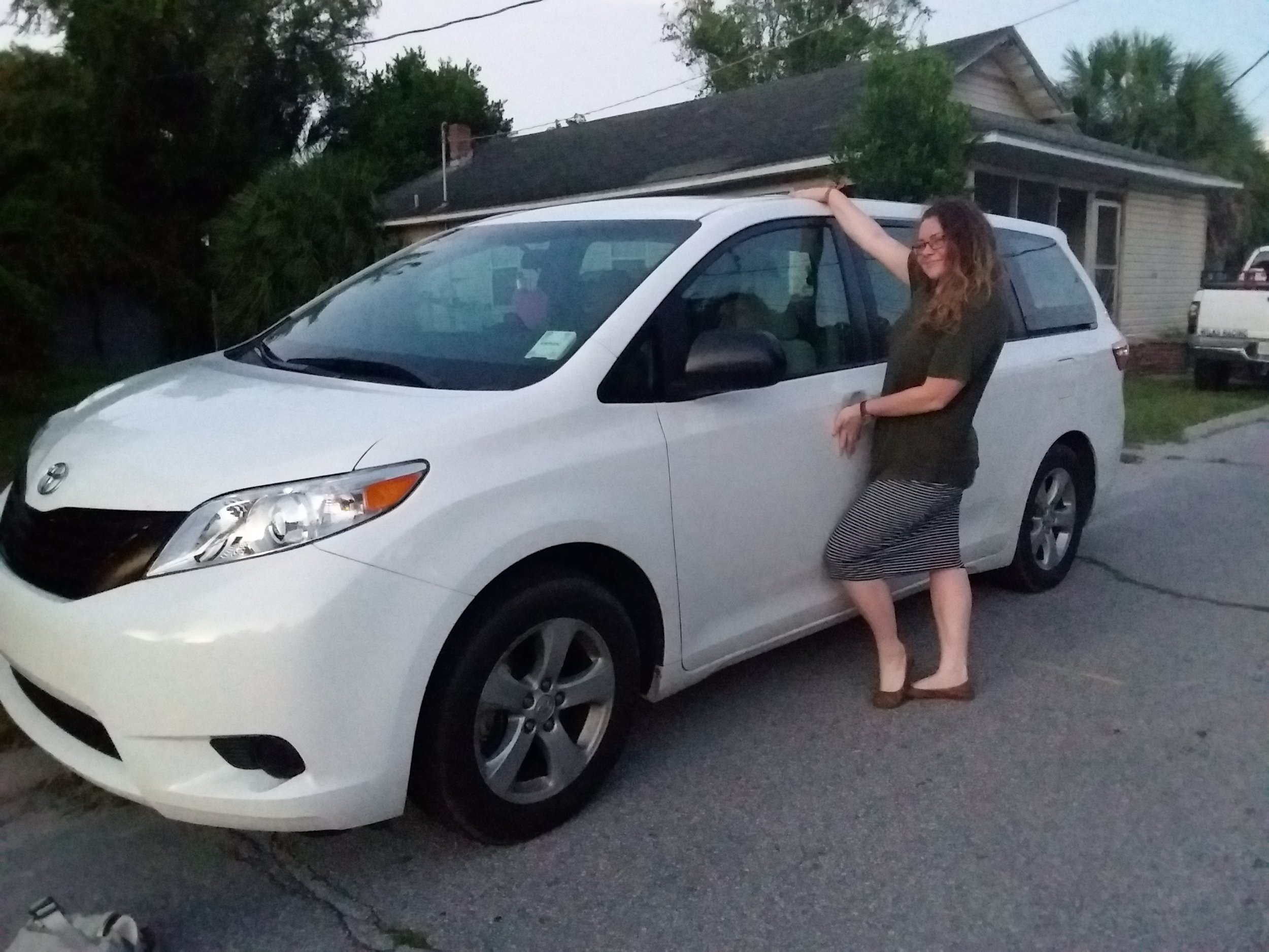 It is my pleasure to officially introduce you to our vehicle: this is, The MommyMissile!! I am the missions minivan mom and I am proud.