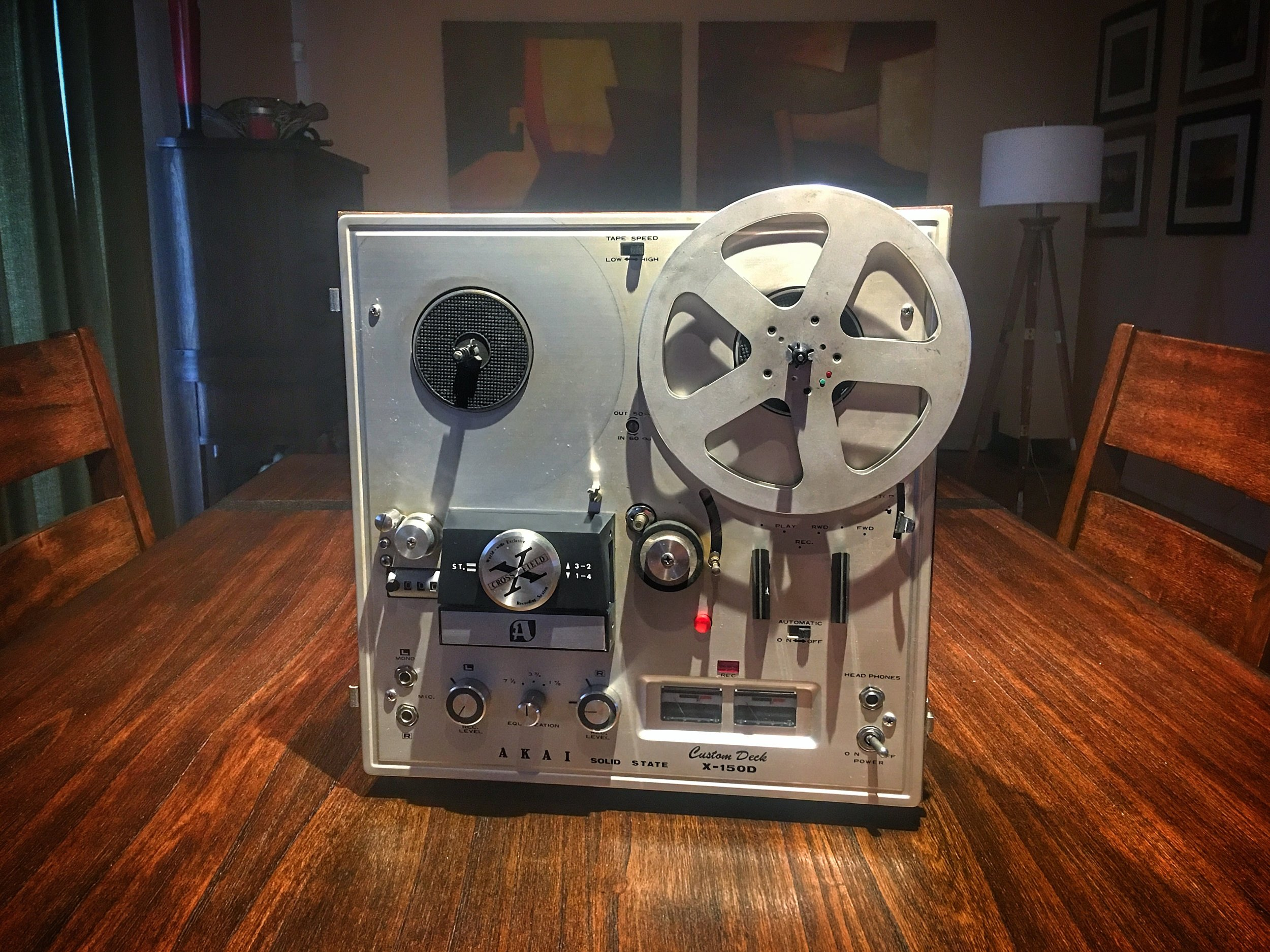 Restored 1969 Akai X-150D Reel to Reel