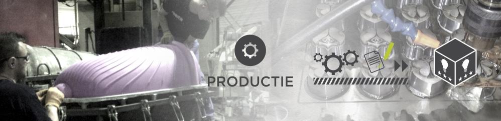 Het product wordt na een geverifieerd prototype in productie genomen en opgevolgd tot en met de levering en in gebruikname.