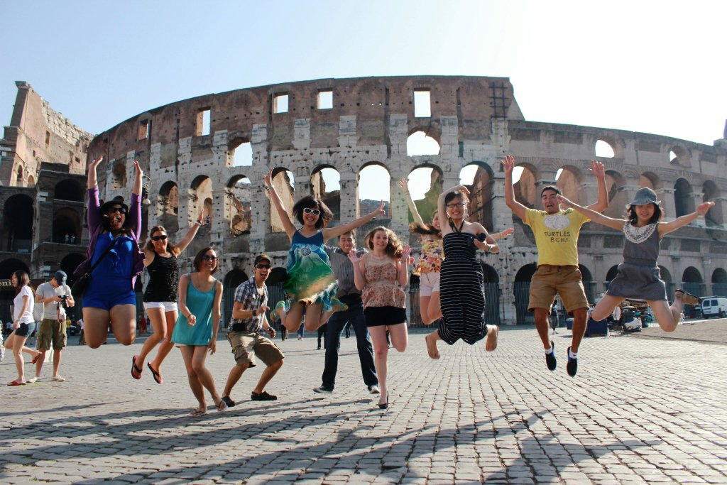 GLP students in Rome