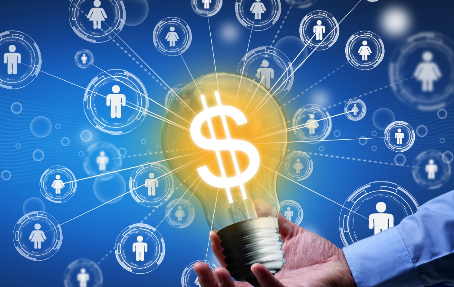 Crowdfunding or community funding concept