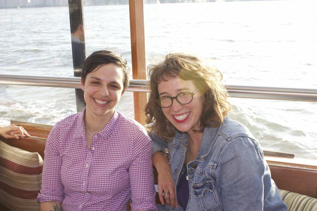 Attorney Jen Mecum (pending bar admission) and girlfriend Lauren.