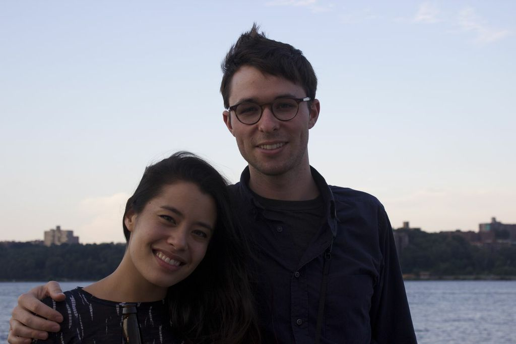 Paralegal Matthew Innes and girlfriend Leily.