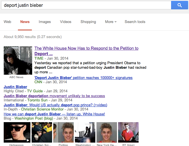 Will Bieber be deported? Many people are  wondering.