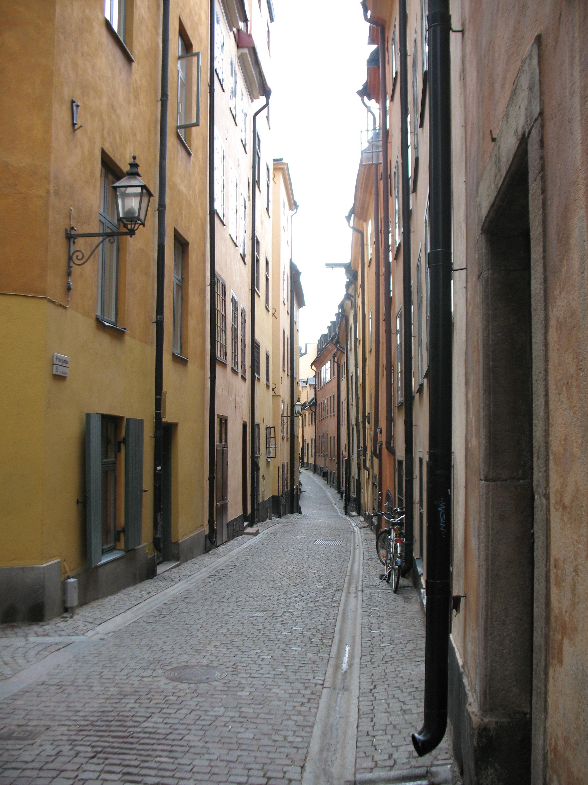 Stockholm neighborhood charm.