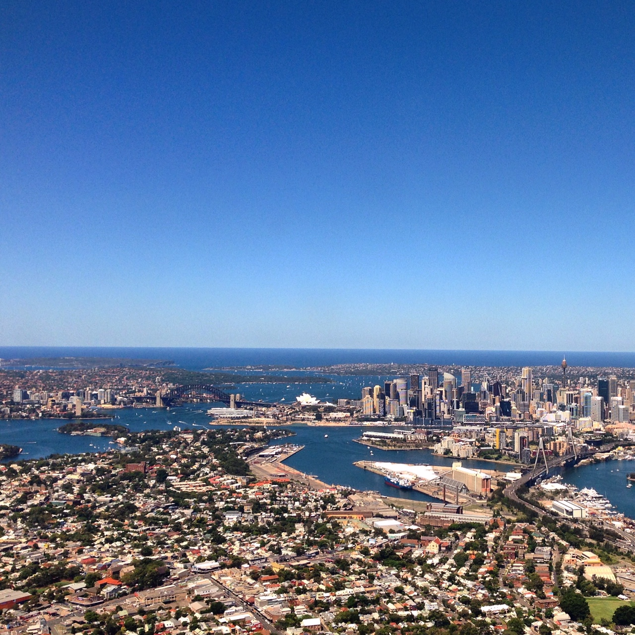 Arriving in Sydney. I'll have a flat white, darling!