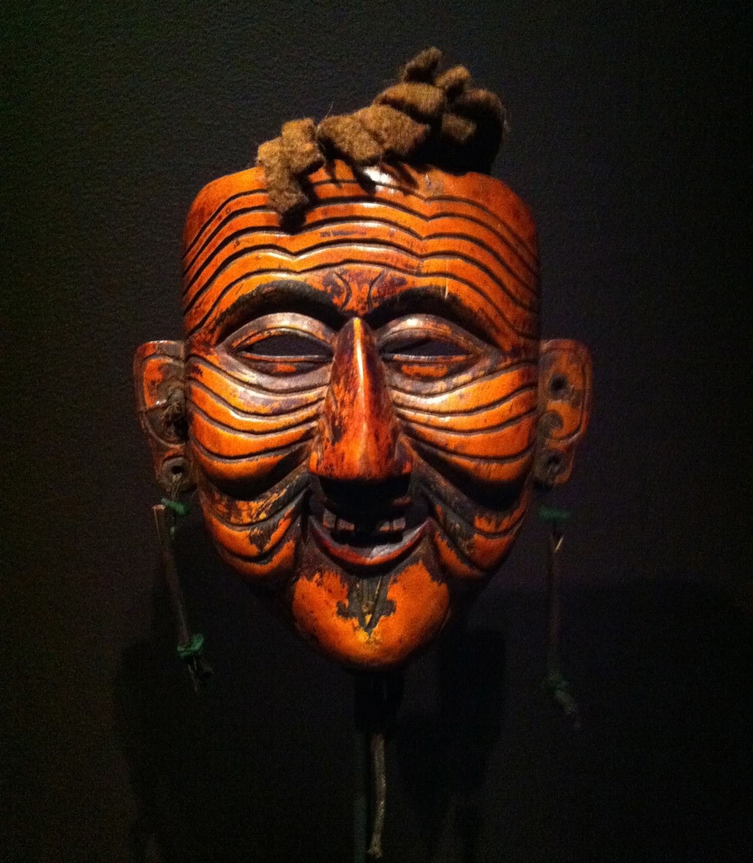 """An """"Apa"""" mask from the   Becoming Another  exhibit at the Rubin Museum"""