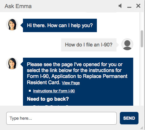 Emma wants to help you with your immigration questions!