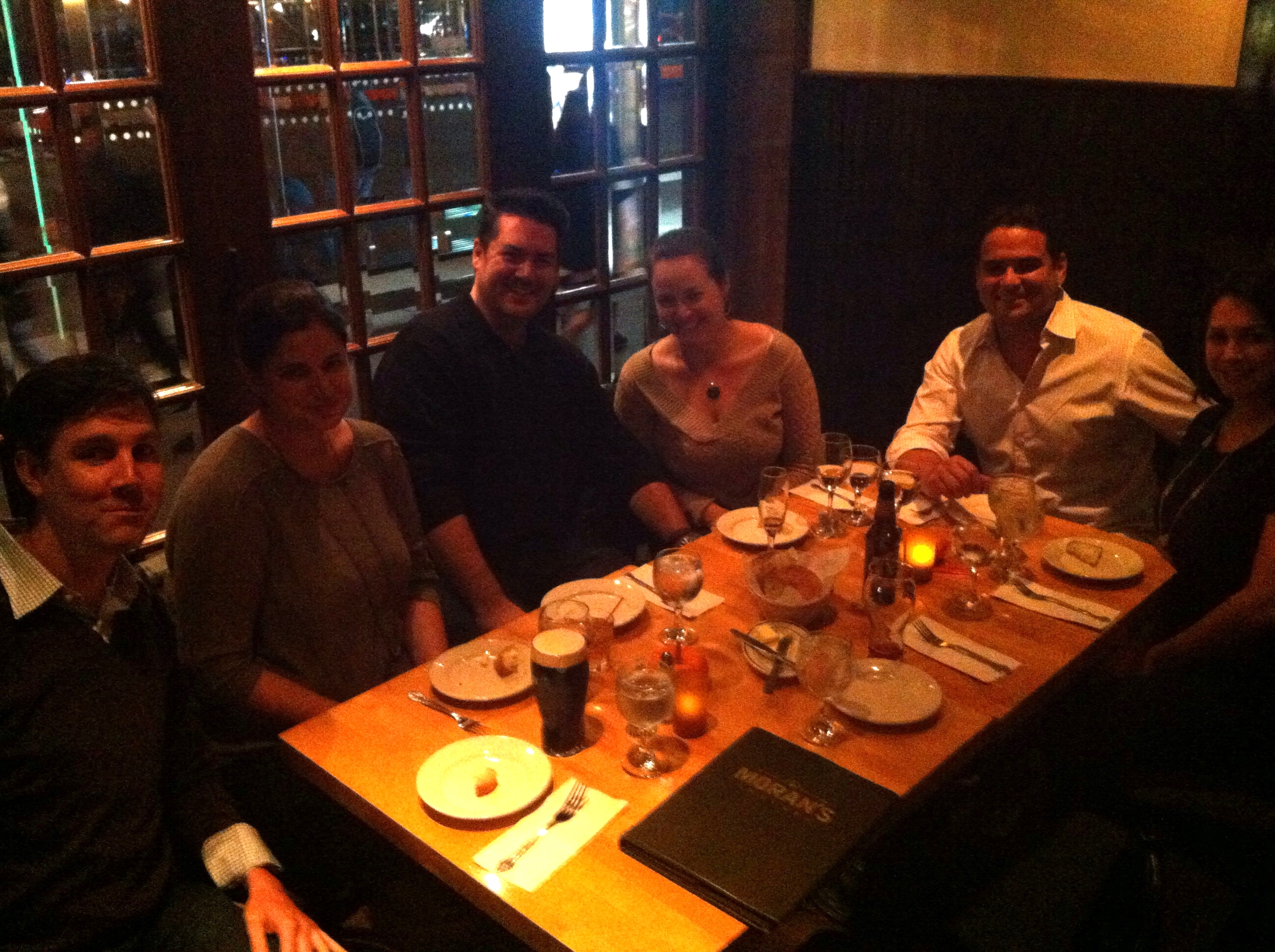 After work drinks with D&B staff (and plus ones). Liz is telling some great H-1B cap stories. Cheers!