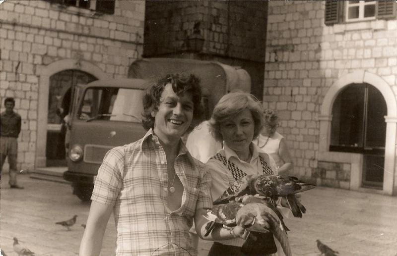 My parents in Europe on their honeymoon.