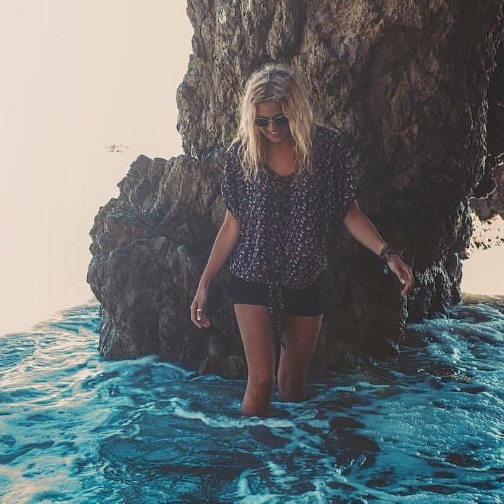 Ashley in California at El Matador State Beach.
