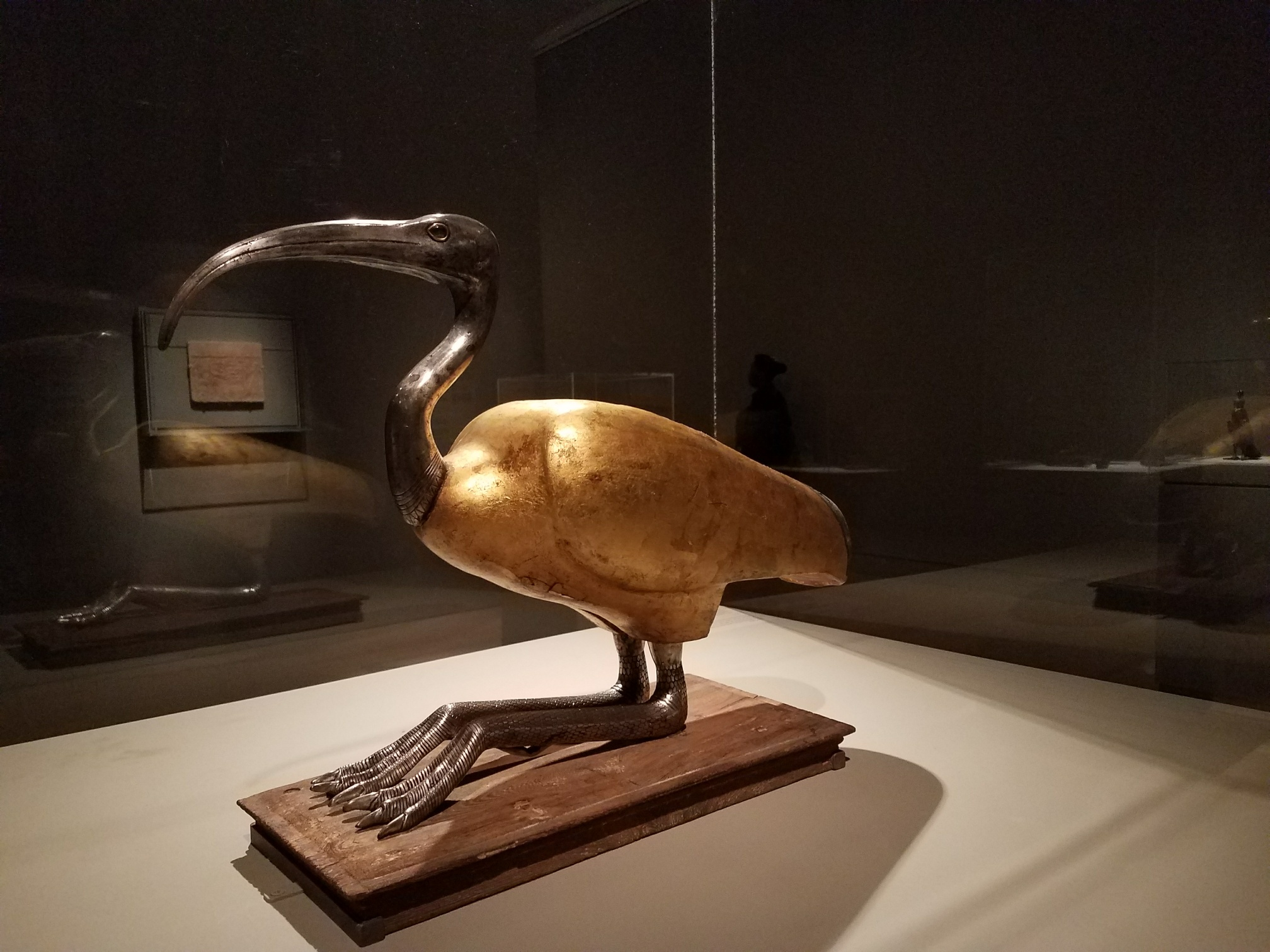An ibis coffin at Brooklyn Museum.