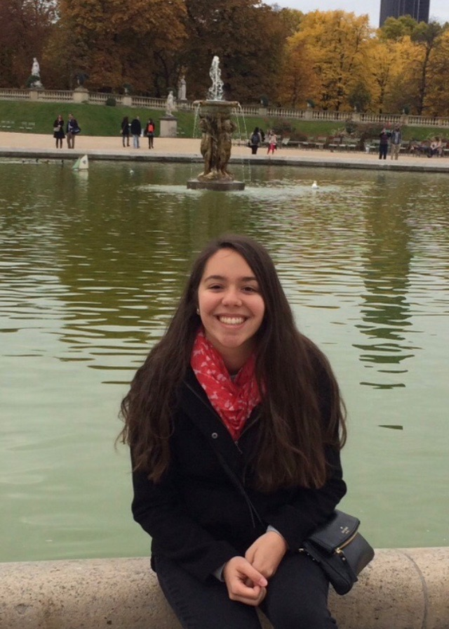 Gaby at the Jardin du Luxembourg in Paris.
