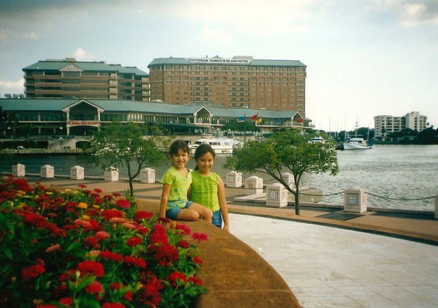 With my young sister in Tampa, Florida.