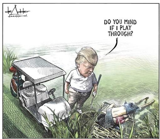 Cartoon by Michael de Adder
