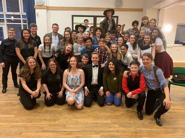 The cast of the first school production of Billy The Kid! A whole lotta talent here, I'm telling you... Also, props to the kid who sang a whole section of Happy Birthday Uncle Sam directly to my face: kudos to you my friend! **Did you know Billy The Kid is available for school and amateur licensing?** #newmusicals #musicaltheatre #schooltheatre #theatreschool #musicschool #newwriting
