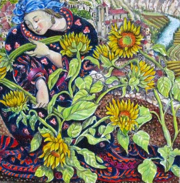 """Gathering Sunflowers"""