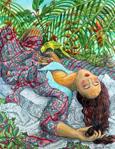 Siesta under the Palms