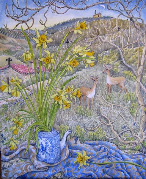 Daffodils and Deer