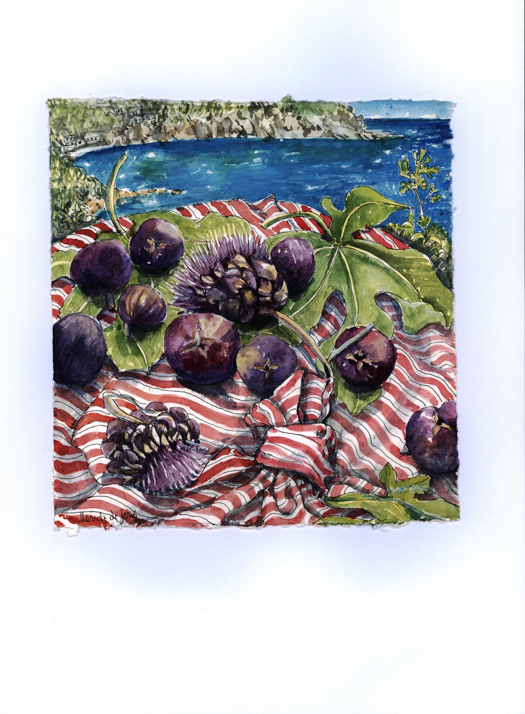 Figs and Artichokes by the Sea