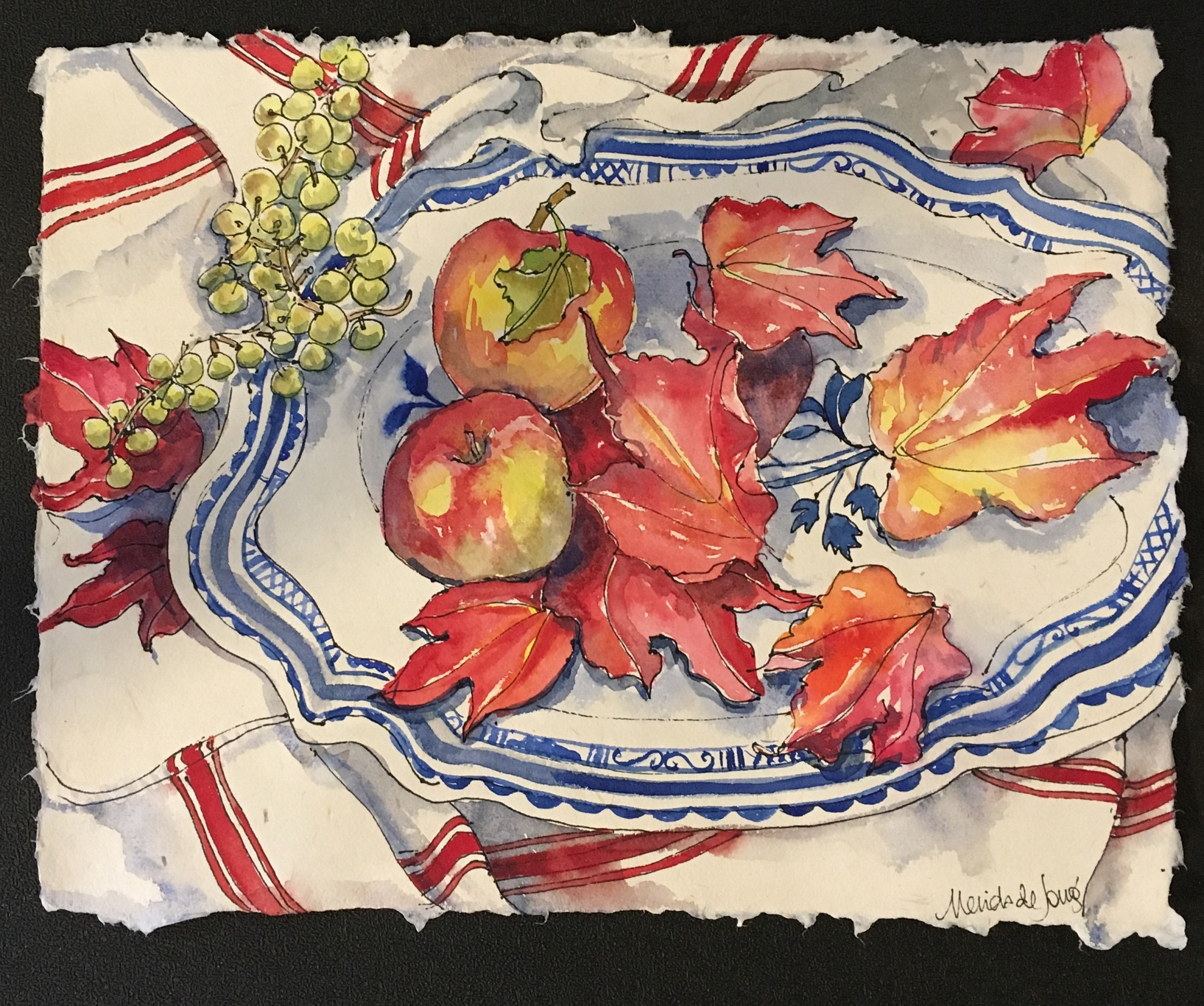 Red Leaf and Apples