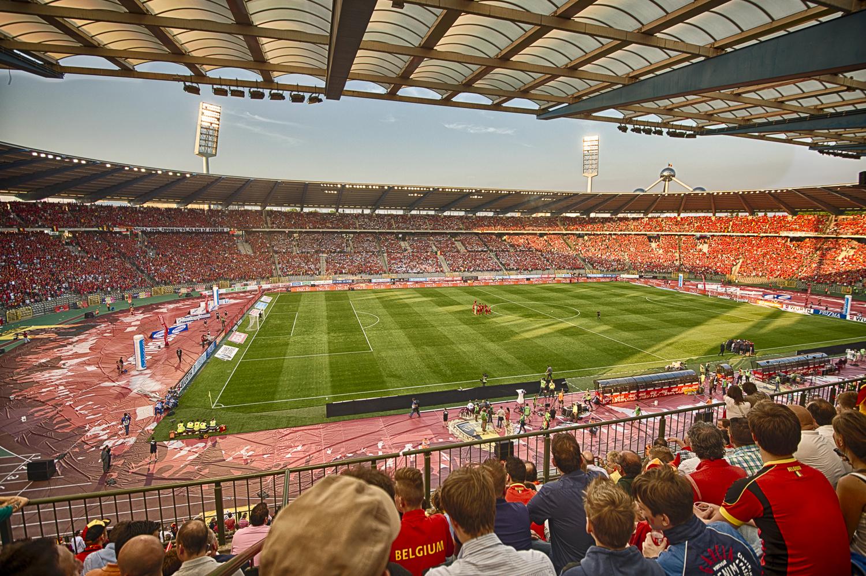 Koning Boudewijn stadium just before kick-off