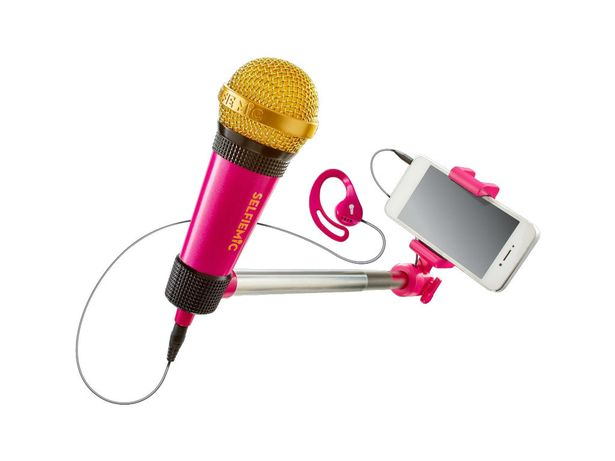 Selfie Mic £19.99   Sing along to pop tracks from the likes of Justin Bieber, Taylor Swift and many more using the free StarMaker singing app.  Kids can create their own music videos by recording themselves and sharing with friends.