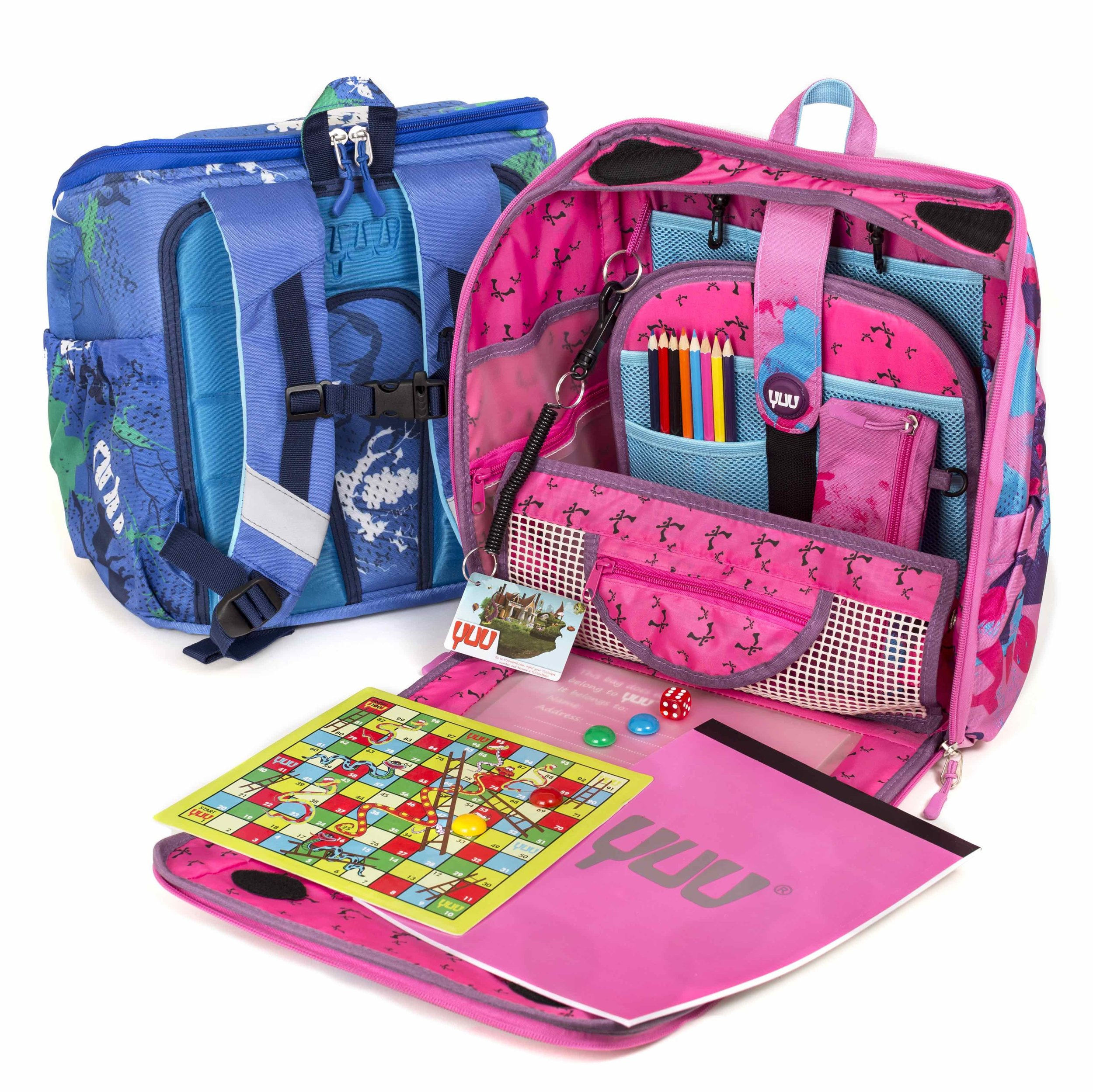 Yuu Bag - £55.00   A world away from a regular backpack, the YUUbag cleverly combines a portable entertainment station with a durable, premium quality backpack with pockets galore for all your kid's kit and caboodle. With a YUUbag you can take the fun wherever you go!