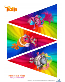 Trolls Birthday Banner