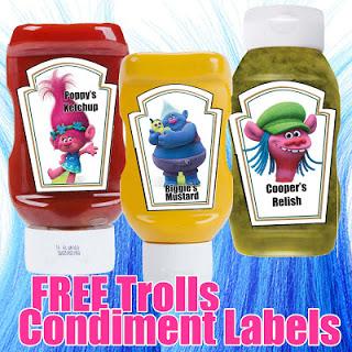 Trolls Condiments