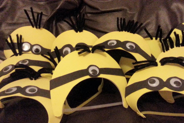 Minion Visors from Wonder Kids How to make them