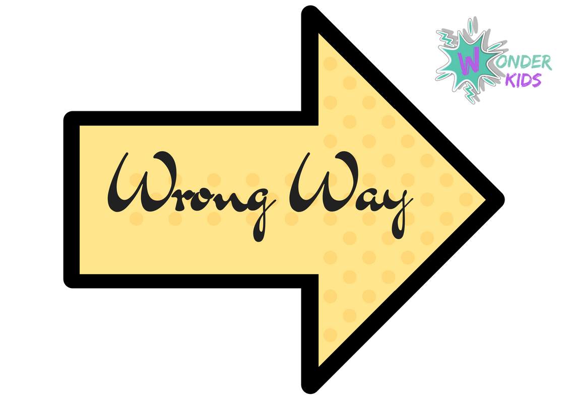 Wrong Way Free Printable Wonder Kids