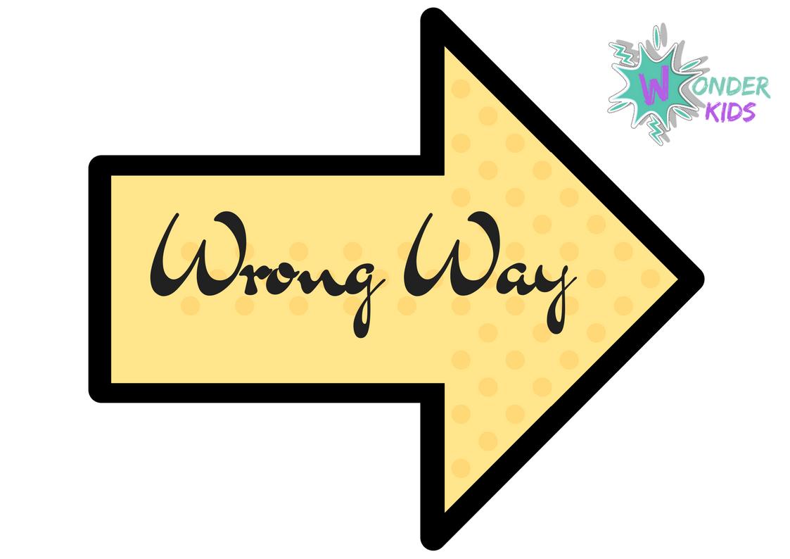 Wrong Way Free Printable Wonder Kids
