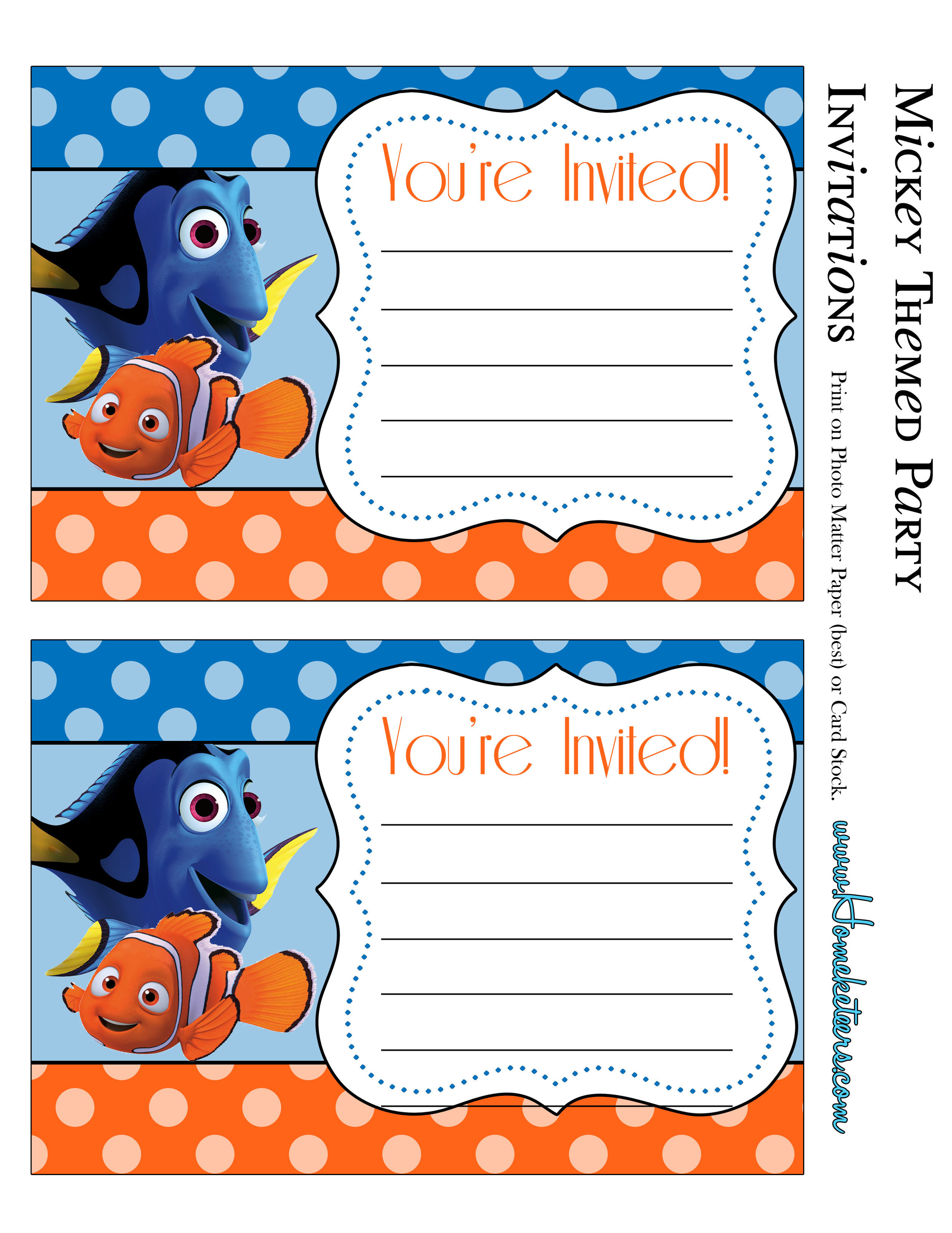 Party Invitations Wonder Kids