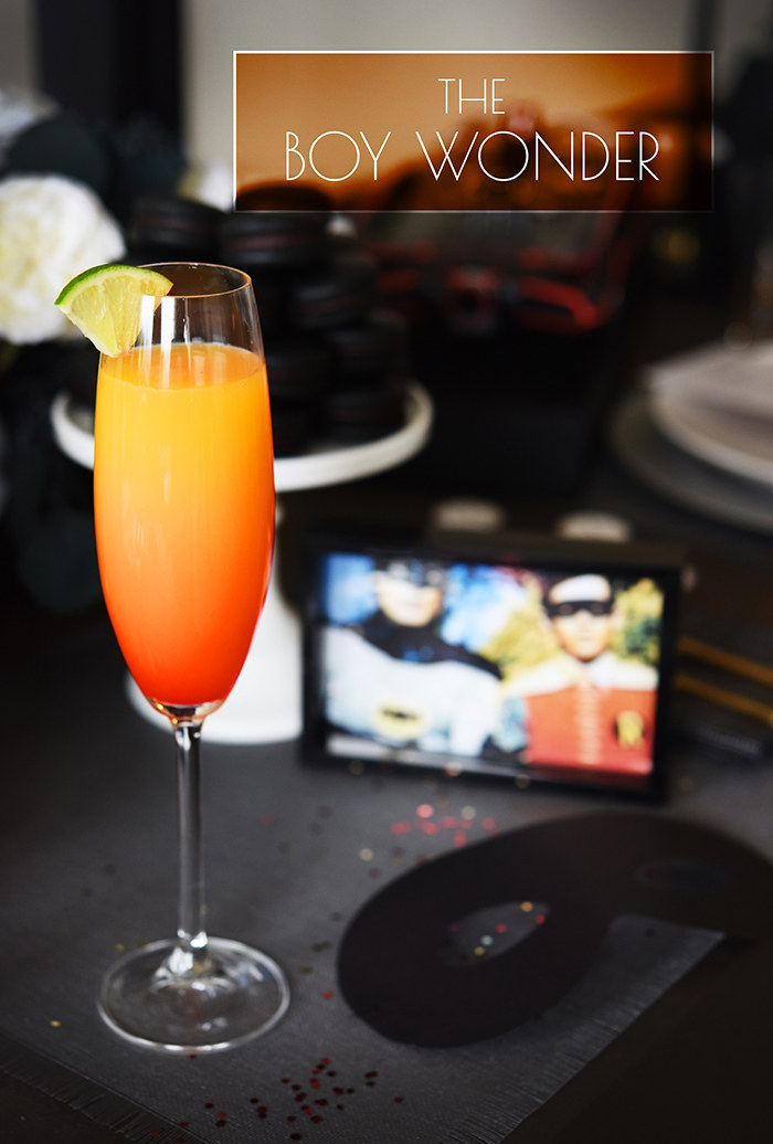- Serves 13 oz. orange juice2 oz. sparkling wine1 oz. silver tequilaSplash grenadine or maraschino cherry juicePour tequila, juice, and sparkling wine into a champagne flute and stir. Tilt glass slightly and slowly pour grenadine down the side so that it settles at the bottom. Garnish with a lime slice.