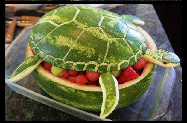 Show Stopping Fruit Turtle