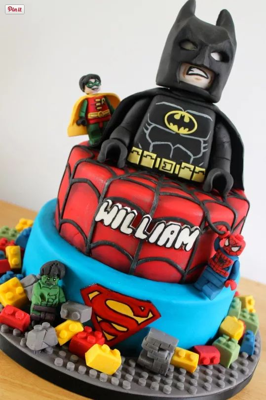 Awesome Lego Superhero Cake
