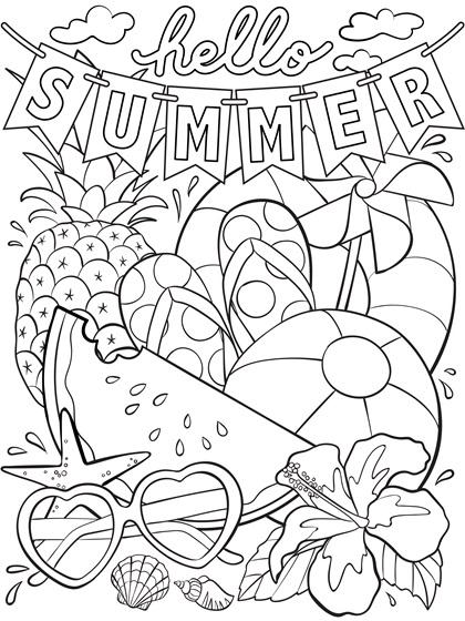 Summer Coloring Page_Artwork_Hello Summer.jpg