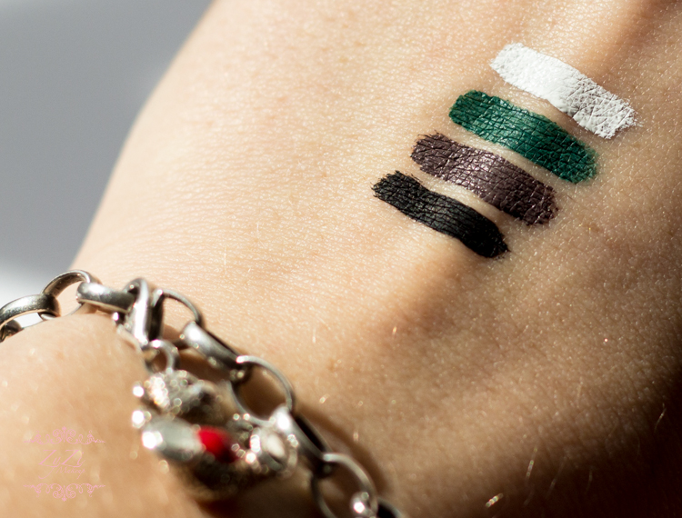 zyzi makeup inglot gel liner blog review color black green brown white duraline swatches (1 of 1)