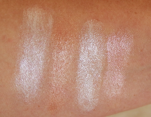 Colors (left to right): Luminizer X, Luminizer Nude, Champagne Fizz, Champagne Rose